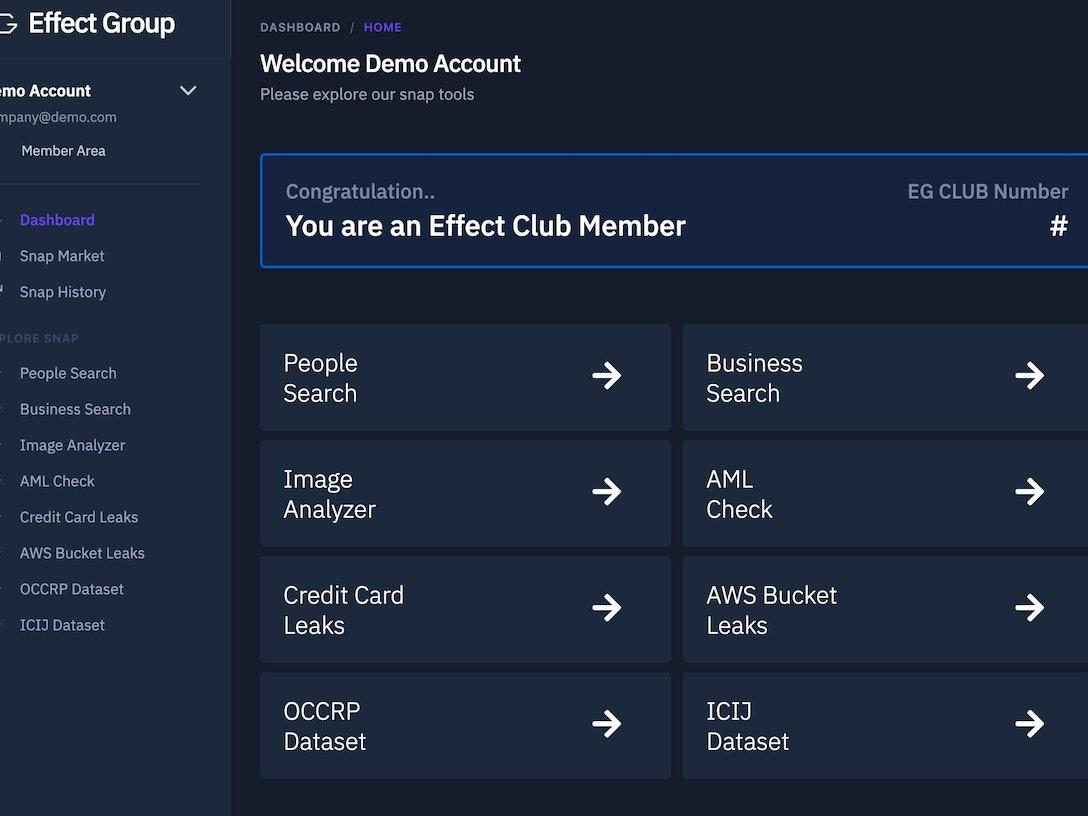 Effect Group Research Platform