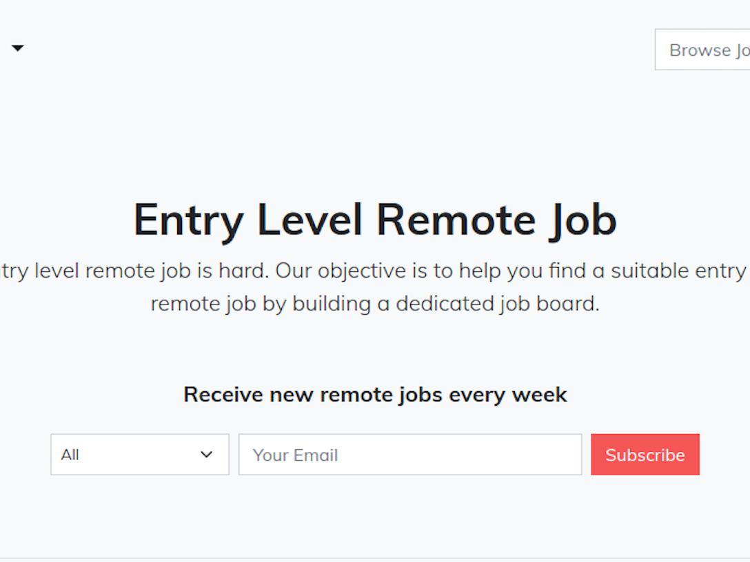 Entry Level Remote Job