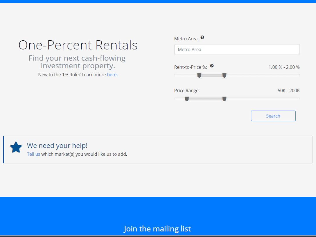 One-Percent Rentals