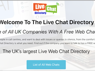 Live Chat Directory UK