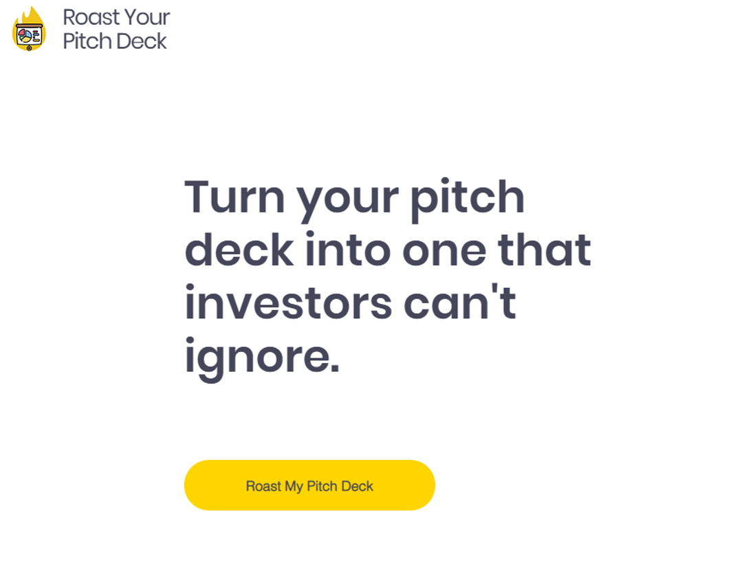 Roast Your Pitch Deck